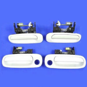 For 1998 2002 Toyota Corolla Ds116 Outside Door Handle Complete Set 4 White
