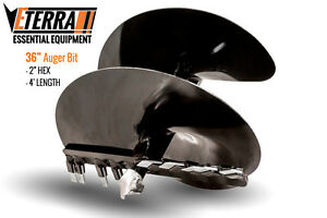 Eterra Auger Bit 36 Fits Skid Steer Excavator Mini Skid Auger Attachment