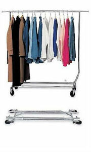 Single Bar Collapsible Commercial Clothing Grade Rack Brand New