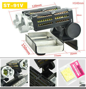 St 91v Metal Solder Wire Sponge Stations Soldering Iron Stand Adjust The Angle