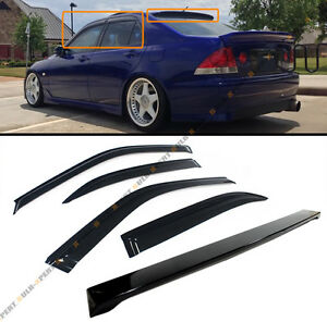 For 2001 05 Lexus Is300 Glossy Black Rear Roof Spoiler Wing Window Visor Combo