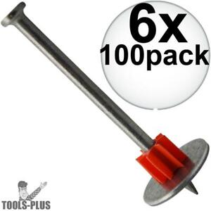 6pk Boxes Of 100 2 1 2 Powder Fastening Pins With Washers Ramset 1516sdc New