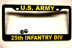 Military License Plate Frame U S Army 25th Infantry Div Polished Abs 841070g