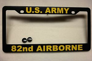 Military License Plate Frame U s Army 82nd Airborne Polished Abs 841001y