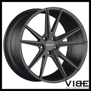 20 Zenetti Venice Black Concave Wheels Rims Fits Ford Mustang Gt Gt500