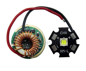 Cree Xm l2 Xml2 Led Driver Xm l2 White 6500k Led Chip Light 20mm Diy