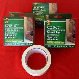 3 Carpet Tape 1 88 x75ft Roll Duck Indoor Light Traffic Double sided Total 225