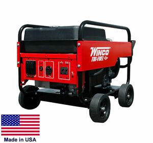 Portable Generator W Wheels Tri Triple Fuel Ng Lp Gas 12 Kw 120 240v