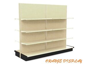 12 l X 72 h X 16 base Aisle Gondola Unit 18 Shelves quantity Discounts