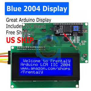 Blue Serial Iic i2c twi 2004 204 20x4 Character Lcd Module Display For Arduino