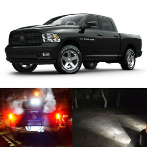 13 X White Led Interior Exterior Light Kit For 2013 2017 Ram 1500 Slt Bighorn
