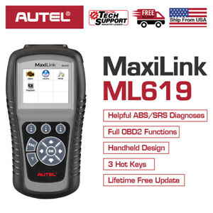 Autel Maxilink Ml619 Obdii Diagnostic Scanner Code Abs Srs Airbag For Ford Gm Vw