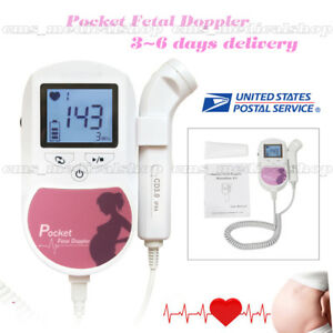 Fetal Doppler backlight Lcd 3mhz gel baby Heart Monitor fda usa Ship