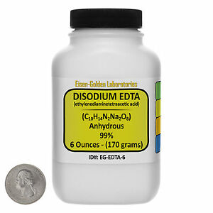 Disodium Edta c10h14n2na2o8 99 Acs Grade Powder 6 Oz In A Bottle Usa