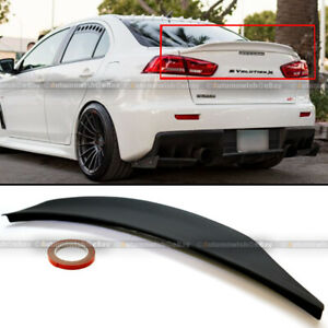 For 08 15 Lancer Evo X 10 Primer Ready Rs Style Rear Duck Trunk Wing Lip Spoiler