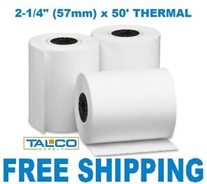 2 1 4 X 50 Thermal Credit Card Receipt Paper 150 Rolls Free Shipping