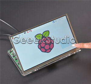 Raspberry Pi4 7inch 1024 600 Lcd Touch Screen Driver Board And Acrylic Bracket