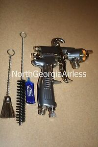 Binks 2100 Spray Gun 2101 2800 7 With 63bss 63pb p Fluid Nozzle 45 6321 63bss