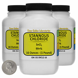Stannous Chloride sncl2 99 Acs Grade Powder 3 Lb In Three Bottles Usa