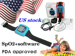 Ce Fda Wrist Pulse Oximeter Fingertip Spo2 Probe Sleep Heart Rate Monitor Cms50f
