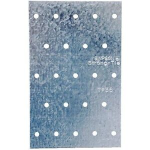 Case Of 100 3 1 8 X 5 Steel Tie Plate 20 Ga Galv Steel Free Shipping