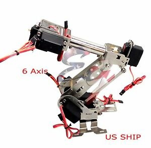 R2 Fully Assembled 6 Axis Mechanical Robotic Arm Clamp For Arduino Raspberr