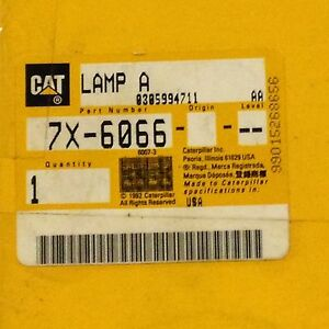 Oem Caterpillar Amber Lamp 7x 6066