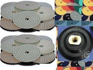 4 Inch Diamond Polishing Pad Wet dry 40 3 Granite Concrete Marble Engineer Stone