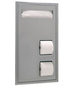 Bobrick B 347 Partition Mounted Seat cover And Toilet Tissue Dispenser