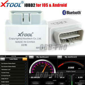 Xtool Iobd2 Eobd Bluetooth Scanner For Iphone Ipad Ios Android Mini Diagnostic