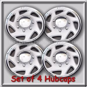 Set 4 16 1995 2002 Ford Truck F 350 Hubcaps Wheel Covers Free Shipping
