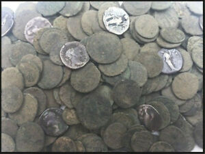 Genuine Uncleaned Ancient Roman Coins Good Quality Silver Coins Included