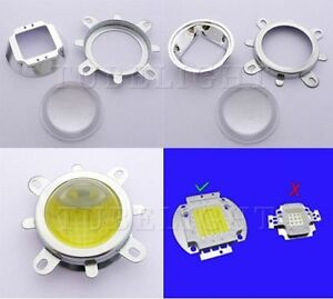 44mm Lens Reflector Collimator Fixed Bracket For 10w 50w 100w High Power Led
