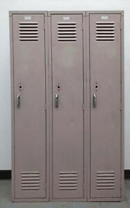 Used Metal School Lockers 36 w X 15 d X 60 h