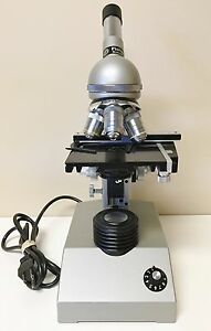 Fisher Scientific 4 Objective Monocular Microscope 4x 10x 40x
