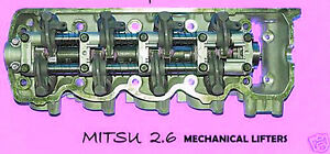 New Fits Mitsu Starion Conquest 2 6 Sohc Cylinder Head Mechanical Lifters 81 86