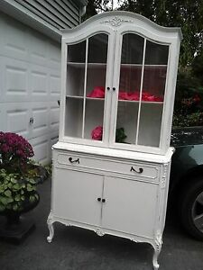 Vintage Shabby Chic French China Cupboard