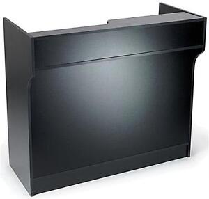 6 Black Wooden Knockdown Ledge Top Counter Pos Counter 21 d X 42 h