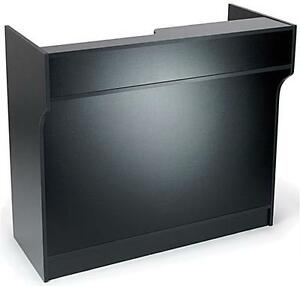 4 Black Wooden Knockdown Ledge Top Counter Pos Counter 21 d X 42 h