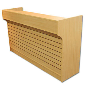 6 Maple Slatwall Front Knockdown Ledge Top Counter Pos Counter 21 d X 42 h