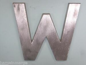 Metal Letter W For Commercial Buildings And Signs 6 In