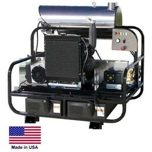Pressure Washer Diesel Hot Water Skid Mounted 8 Gpm 3500 Psi 24 Hp 12 Volt