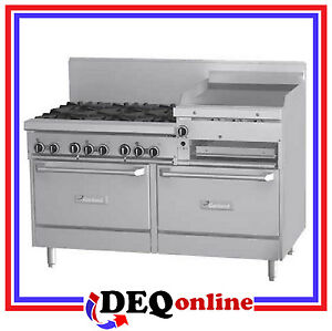 Garland G60 6r24rr G Series 60 Raised Griddle Broiler Gas Range W 6 Burners