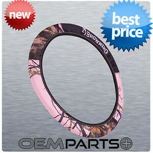 1 Browning Neoprene Pink Steering Wheel Cover Camouflage Truck Suv Car New Style