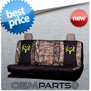 Bone Collector Full Size Rear Bench Seat Cover Universal Camouflage Truck Suv