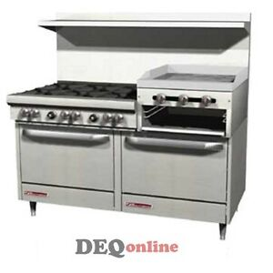 Southbend S60dd 2rr 60 Gas Range W 6 Burners 24 Griddle broiler