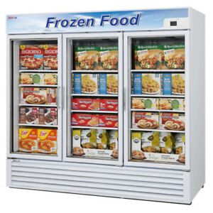 Turbo Air Tgf 72f n 3 section Self Contained Glass Door Merchandiser white