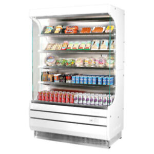 Turbo Air Tom 50 Vertical Open Display Case Cooler Full Height In White