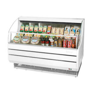Turbo Air Tom 50s Open Display Case Cooler In White