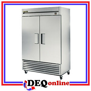 True Ts 49f Commercial Stainless Reach in Solid Swing 2 Door Freezer